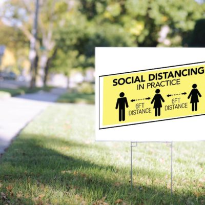 Social Distancing Signage
